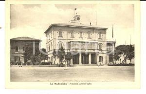 1935 LA MADDALENA (OT) Palazzo Ammiraglio *Cartolina ANIMATA marinai FP VG
