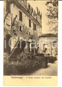 1916 MONTEMAGNO (AT) Ponte levatoio del castello *Cartolina postale FP VG
