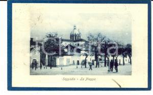 1919 SEZZADIO (AL) Veduta della piazza *Cartolina ANIMATA FP VG