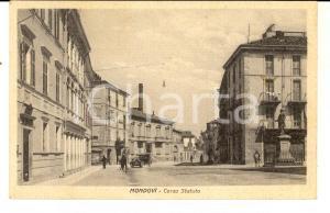1930 MONDOVI' (CN) Veduta di corso Statuto *Cartolina ANIMATA FP VG
