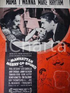1937 Jerome JEROME Mama I wanna make rhythm *Spartito Manhattan Merry Go Round