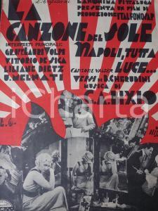 1934 CHERUBINI BIXIO Napoli, tutta luce... valzer LA CANZONE DEL SOLE *Spartito