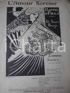 1921 Manuel DE FALLA Danse rituelle du feu - L'amour sorcier *Spartito ESCHIG