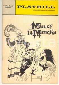 1968 PLAYBILL - MARTIN BECK THEATRE Man of LA MANCHA *illustrated