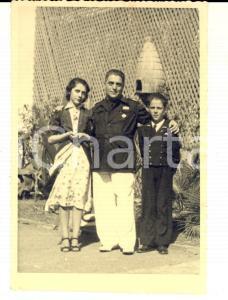 1940 ca WWII Ritratto di ufficiale della SANITA' con i figli *Foto 11x15 cm