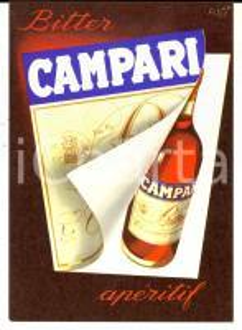 1957 Cartolina BITTER CAMPARI pubblicitaria ILLUSTRATA FISA FG NV