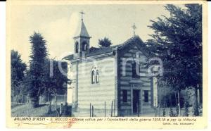 1928 AGLIANO (AT) Chiesa SAN ROCCO *Cartolina a Vincenza MOROZZO DELLA ROCCA