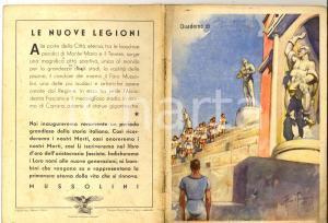 1940 ca FASCISMO Quaderno scolastico di Cosimo BRUTTI Ill. Aldo RAIMONDI