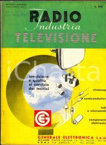 Aprile 1960 RADIO INDUSTRIA TELEVISIONE Rivista  ILLUSTRATA Modelli Fiera MILANO