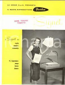 1957 VERIFAX Riproduttore per ufficio SIGNET *Pieghevole ILLUSTRATO VINTAGE