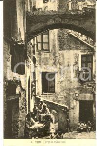 1942 SANREMO (IM) Vicolo MANAROLA *Cartolina ANIMATA bambini FP VG