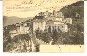 1900 ca BRUNATE (CO) Panorama dal Grand Hotel *Cartolina messaggio nascosto