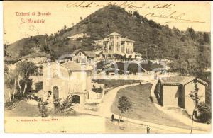 1904 BRUNATE (CO) Panorama di SAN MAURIZIO *Cartolina messaggio nascosto