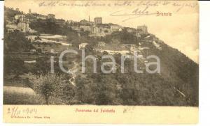 1904 BRUNATE (CO) Panorama dal Falchetto *Cartolina con messaggio nascosto