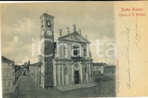 1903 BUSTO ARSIZIO Veduta della chiesa di SAN MICHELE *Cartolina postale FP VG