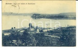 1930 GAVIRATE (VA) Lago con veduta di BIANDRONNO *Cartolina postale FP VG