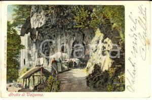 1903 VALGANNA (VA) Veduta delle grotte *Cartolina postale ANIMATA FP VG