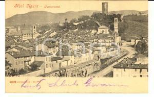 1903 NOVI LIGURE (AL) Panorama dall'alto *Cartolina postale FP VG
