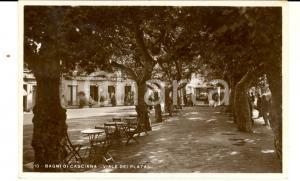 1933 CASCIANA TERME (PI) Viale dei Platani *Cartolina ANIMATA FP VG