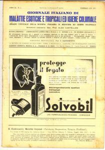 1938 GIORNALE ITALIANO MALATTIE ESOTICHE Malaria nelle colonie *Anno XI n° 2