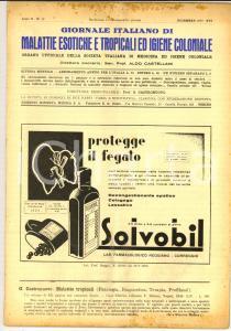 1937 GIORNALE ITALIANO MALATTIE ESOTICHE Il tifo in Eritrea *Anno X n° 12