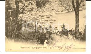 1904 ARGEGNO (CO) Panorama visto dalle Vigne - Lago COMO *Cartolina FP VG