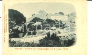 1905 ca CAPRERA (OT) Ricordo pellegrinaggio 1902 *Cartolina VINTAGE FP NV