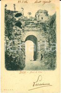 1904 NAPOLI BAIA Arco di Tito *Cartolina postale VINTAGE FP VG