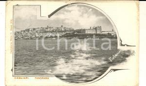 1910 CAGLIARI Panorama dal mare *Cartolina illustrata FORLANINI FP VG