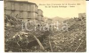 1908 MESSINA TERREMOTO Via del Torrente Portalegni - Rovine *Cartolina ANIMATA