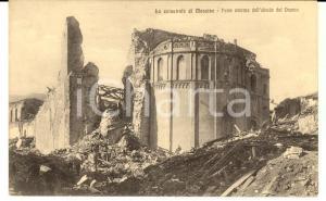 1908 MESSINA TERREMOTO Parte esterna dell'abside del Duomo *Cartolina postale FP