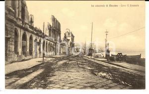 1908 MESSINA TERREMOTO Rovine corso Vittorio Emanuele *Cartolina FP NV