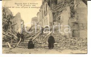 1908 MESSINA TERREMOTO Soldati del Genio nel salvataggio *Cartolina FP NV
