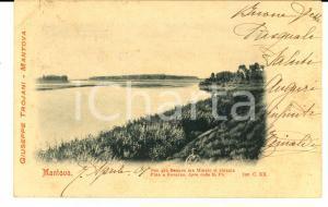 1901 MANTOVA Veduta deI Mincio *Cartolina Giuseppe TROJANI ANIMATA FP VG