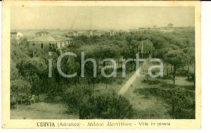 1930 ca CERVIA (RA) Ville nella pineta di MILANO MARITTIMA Cartolina postale FP