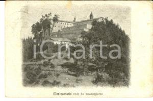 1921 SANTUARIO DI MONTESENARIO (FI) Veduta da mezzogiorno *Cartolina FP VG