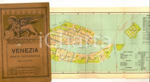 1900 ca VENEZIA Pianta topografica con indice *ed. SCROCCHI TURISMO VINTAGE
