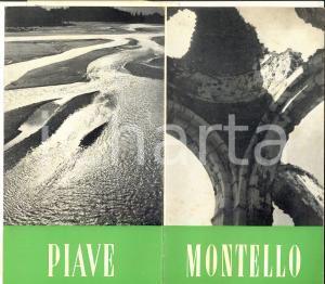 1950 ca IL MONTELLO (TV) Pieghevole ILLUSTRATO *TURISMO VINTAGE