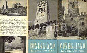 1950 ca CONEGLIANO (TV) Pieghevole ILLUSTRATO *TURISMO VINTAGE