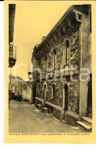 1940 ca VIGNALE MONFERRATO (AL) Casa di Serpentello Luciano *Cartolina FP NV