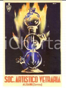 1947 ALTARE (SV) Società Artistico VETRARIA *Cartolina pubblicitaria ILLUSTRATA