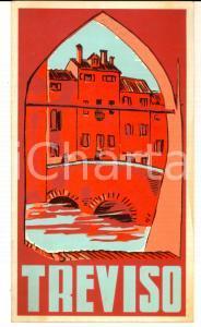 1950 ca TREVISO nella storia e nell'arte *Pieghevole ILLUSTRATO TURISMO VINTAGE