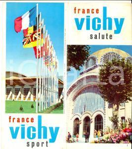 1960 ca FRANCE VICHY Salute e sport *Pieghevole ILLUSTRATO TURISMO
