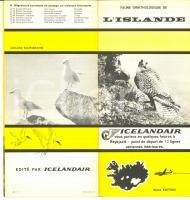 1963 ISLANDE Faune ornithologique *Brochure ILLUSTREE 2eme édition ICELANDAIR