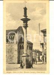 1915 ca GALLARATE (VA) Chiesa di San Pietro e piazza Garibaldi *Cartolina FP NV