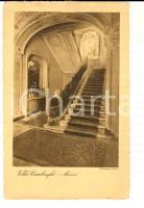 1930 ca MONZA VILLA CAMBIAGHI - Uno scalone  *Cartolina postale FP NV
