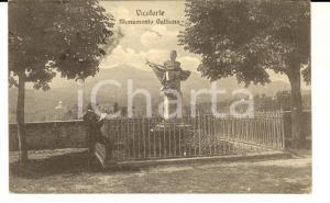1930 VICOFORTE (CN) Monumento GALLIANO *Cartolina ANIMATA lettore FP VG