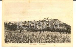 1930 VERDUNO (CN) Panorama del paese con campo *Cartolina postale FP VG