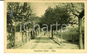 1924 CASTELLETTO TICINO (NO) Allea *Cartolina postale ANIMATA FP VG