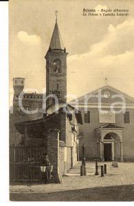1933 BRIONA (NO) Chiesa e castello SOLAROLI *Cartolina postale FP VG